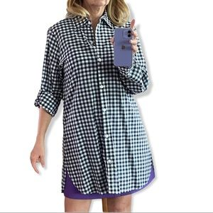 Tommy Bahama gingham button down shirt dress, Med